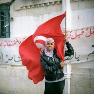Ouda Hamraoui, 26 ans, maîtrise en langue italienne obtenue en 2008, originaire de Hammam-Lif © Martin Barzilai