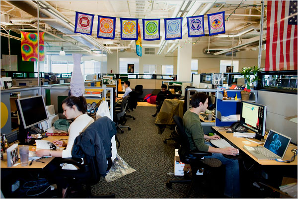 Les bureaux de Google à Mountain View, en Californie.
