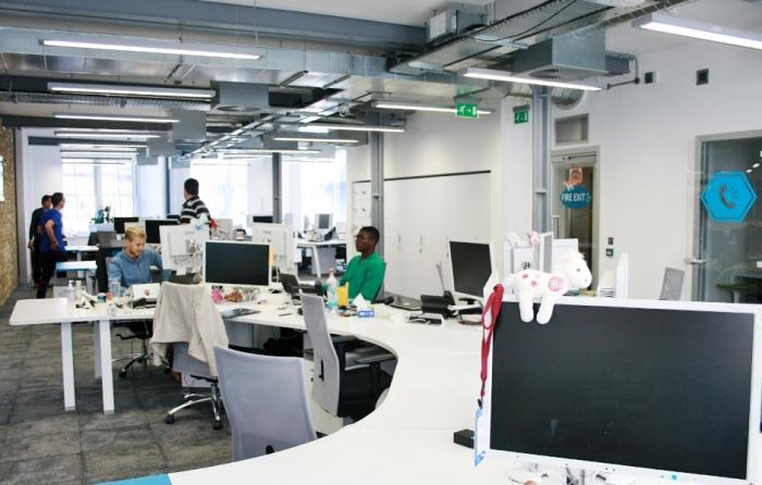 Les bureaux de Yammer, à Londres.