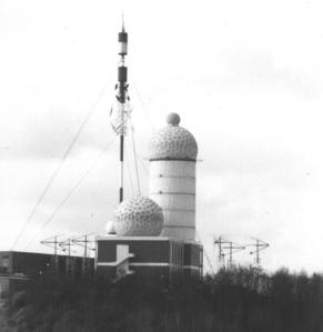 Station américaine du Teufelsberg, avant 1989. (© Alain Charret)