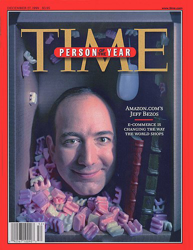 Jeff Bezos est élu la Personnalité de l'année selon Time Magazine en 1999.