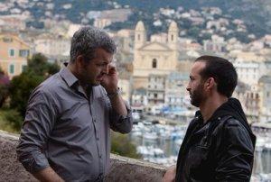 Pierre Leccia joue aussi dans la série un indépendantiste corse (Grimaldi), à droite, l'acteur Michel Ferracci (André)