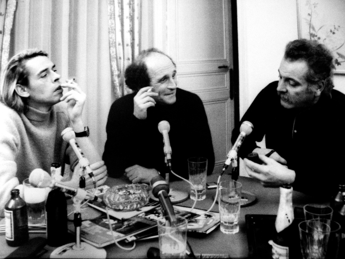 Brel, Brassens, Ferré le 6 janvier 1969. Crédit photo J.P. Leloir