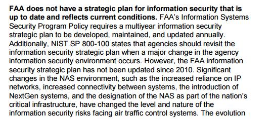Extrait du rapport du GAO, janvier 2015.