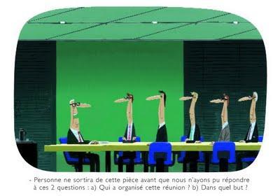 Le monde du travail par Voutch : les réunions.