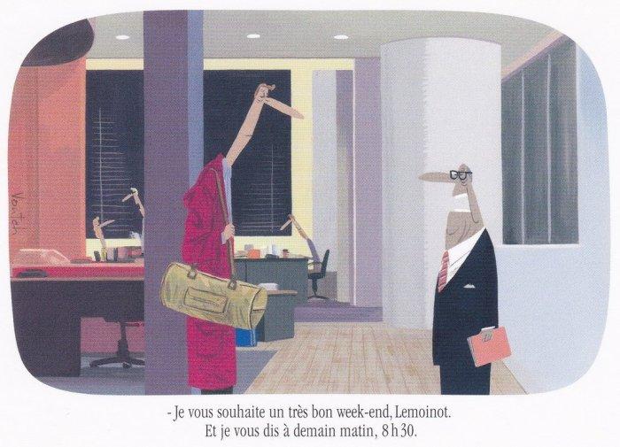 Le monde du travail par Voutch : le temps libre.