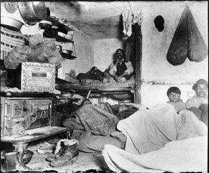 """""""La pauvreté à Bayard Street"""". Jacob Riis"""