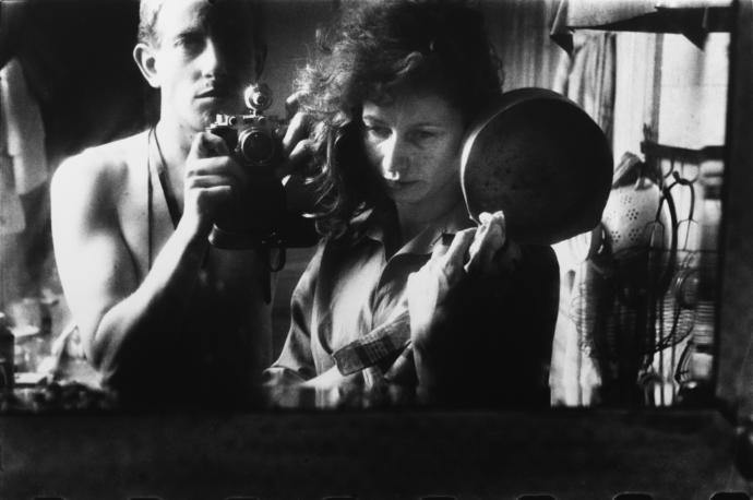 """Selfportrait with Ata Kandó, Paris,"" 1953. Nederlands Fotomuseum / © Ed van der Elsken / Collection Ed van der Elsken estate"