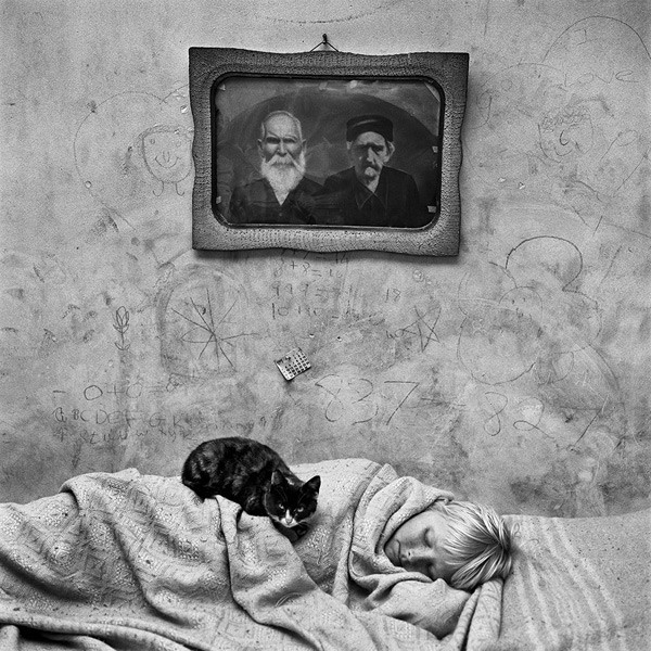 Portrait of sleeping girl, 2000. Roger Ballen.